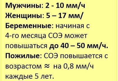 Норма СОЭ