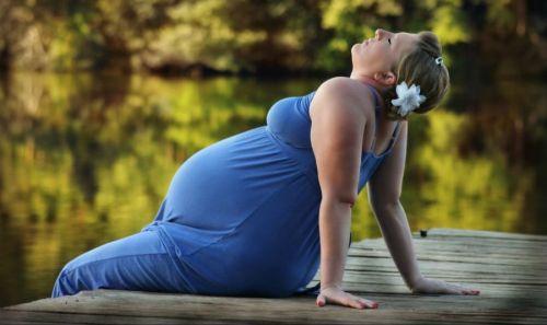 Беременная с большим весом