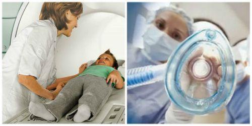 Наркоз детям при МРТ