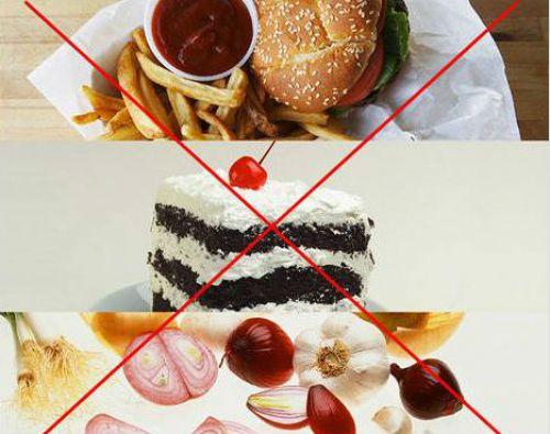 Ограничение острого, сладкого и жирного