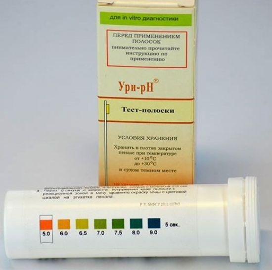 Тест-полоски для уровня рН мочи