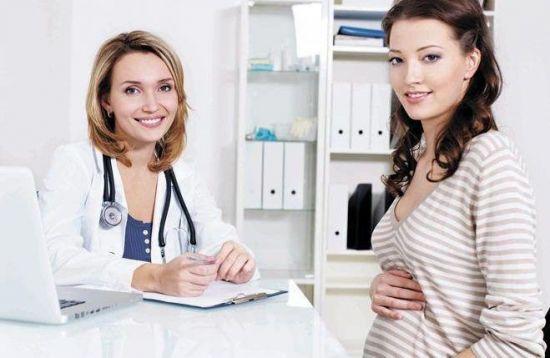 Беременная у врача