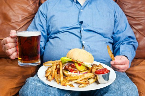 Жирная пища и алкоголь