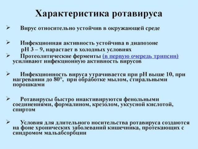 Характеристика ротавируса
