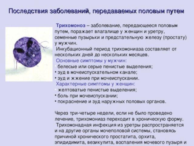 Последствия заболеваний, передаваемых половым путем