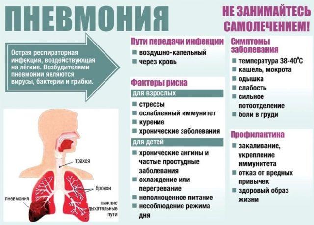 Инфографика о пневмонии