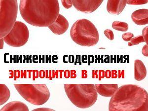 Пониженные эритроциты в крови