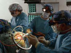 Взятие биопсии мозга